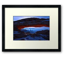 Moonlit Mesa Framed Print