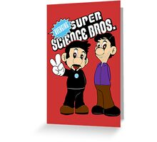 Super Science Bros. Greeting Card
