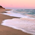 Beach and Pink Pastel Sky by Roupen  Baker