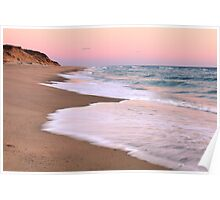Beach and Pink Pastel Sky Poster
