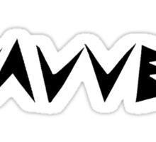 Literally Wavves (Black) Sticker