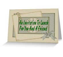 Invitation to Lunch Greeting Card