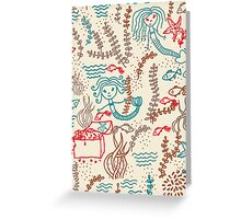 Cute mermaids Greeting Card