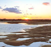 Salt Marsh at Sunset by Roupen  Baker