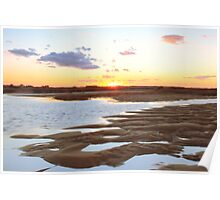 Salt Marsh at Sunset Poster