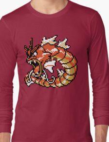 Red Gyarados Retro Long Sleeve T-Shirt