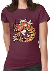 Red Gyarados Retro Womens Fitted T-Shirt