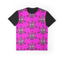 Leaf Abstract Pink  Graphic T-Shirt