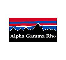 Alpha Gamma Rho Red White and Blue Photographic Print
