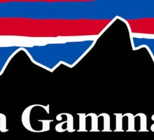 Alpha Gamma Rho Red White and Blue Sticker