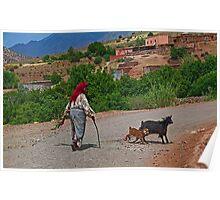 Morocco. Village scene. Poster