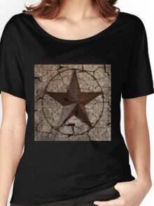 vintage damask rustic western country  texas lone star Women's Relaxed Fit T-Shirt