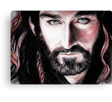 Richard Armitage, Thorin Oakenshield, sanguine Canvas Print