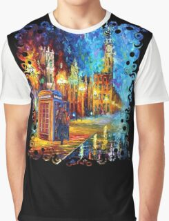 Sherlock Phone booth and Big ben art painting Graphic T-Shirt