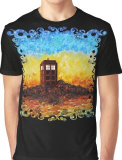 Time travel Phone booth in the Twilight zone art painting Graphic T-Shirt
