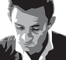 Grayscale Johnny Cash by ozdesign