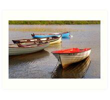 Fishing Boats In The Evening Sun Art Print