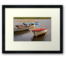 Fishing Boats In The Evening Sun Framed Print