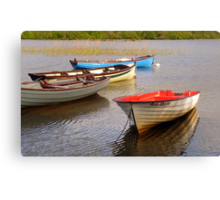 Fishing Boats In The Evening Sun Canvas Print