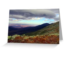 Clouds Paint the Presidentials Greeting Card
