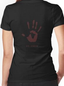 Dark brotherhood - We know Women's Fitted V-Neck T-Shirt