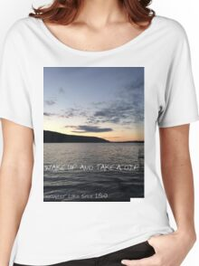 Deruyter Lake (Wake Up and Take a dip) Women's Relaxed Fit T-Shirt