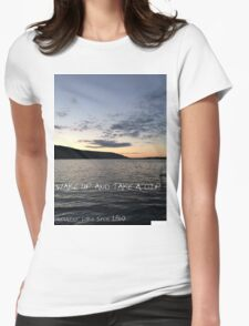 Deruyter Lake (Wake Up and Take a dip) Womens Fitted T-Shirt