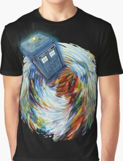Blue Phone Booth jump into time Vortex art painting Graphic T-Shirt