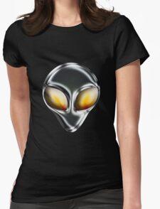 Metal Alien Head Womens Fitted T-Shirt