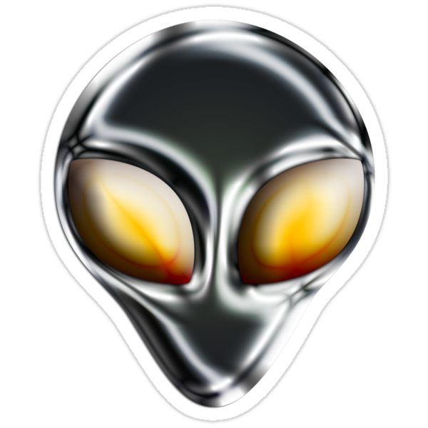 Metal Alien Head by mdkgraphics