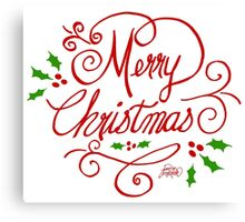 Merry Christmas by Jan Marvin Canvas Print