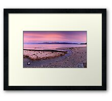 Arran from Scalpsie Bay, Bute Framed Print