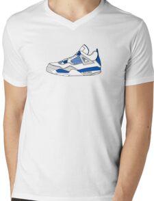 J4 Military Blue Ver 2 Mens V-Neck T-Shirt