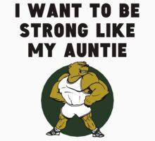 Strong Like My Auntie Kids Tee