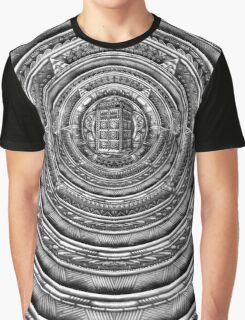 Aztec Time Lord Black and white Pencils sketch Art Graphic T-Shirt