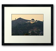 Griffith Observatory, Los Angeles CA Framed Print