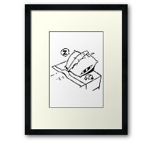Earthworm Jim Takes a Nap Framed Print