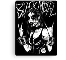 Black Metal Chick Canvas Print