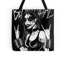 Black Metal Chick Tote Bag