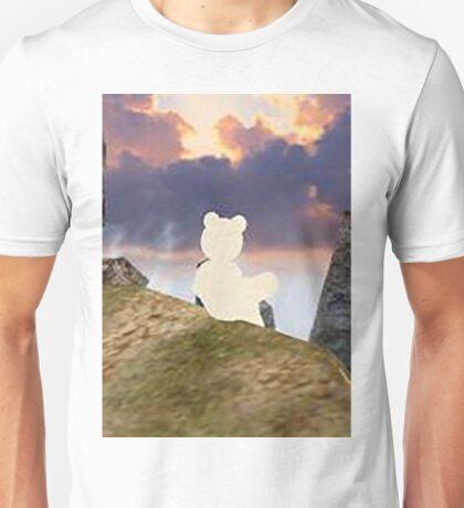 teddy bear watching the sky Unisex T-Shirt