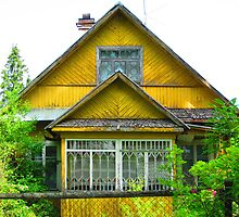 Unrefined Neon Yellow Dacha of Kartashevskaya by M-EK