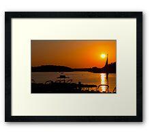 Sunset over Arkansas Mountains Framed Print