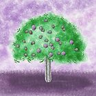 Passion Tree, Eggplant Purple by Janet Antepara