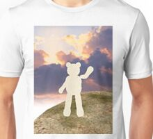teddy bear waving good bye to the clouds Unisex T-Shirt