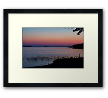 Pinks and Colors of a Sunset Framed Print