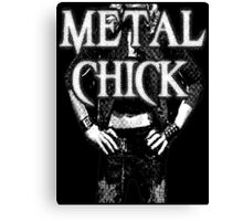 Metal Chick Canvas Print