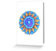 Meditation on Water Energy Greeting Card