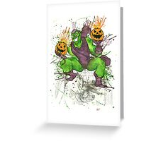 Green Goblin Greeting Card