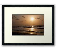 Sunrise on the Beach in Padre Framed Print