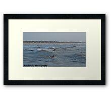 Surfing on Padre Island Framed Print